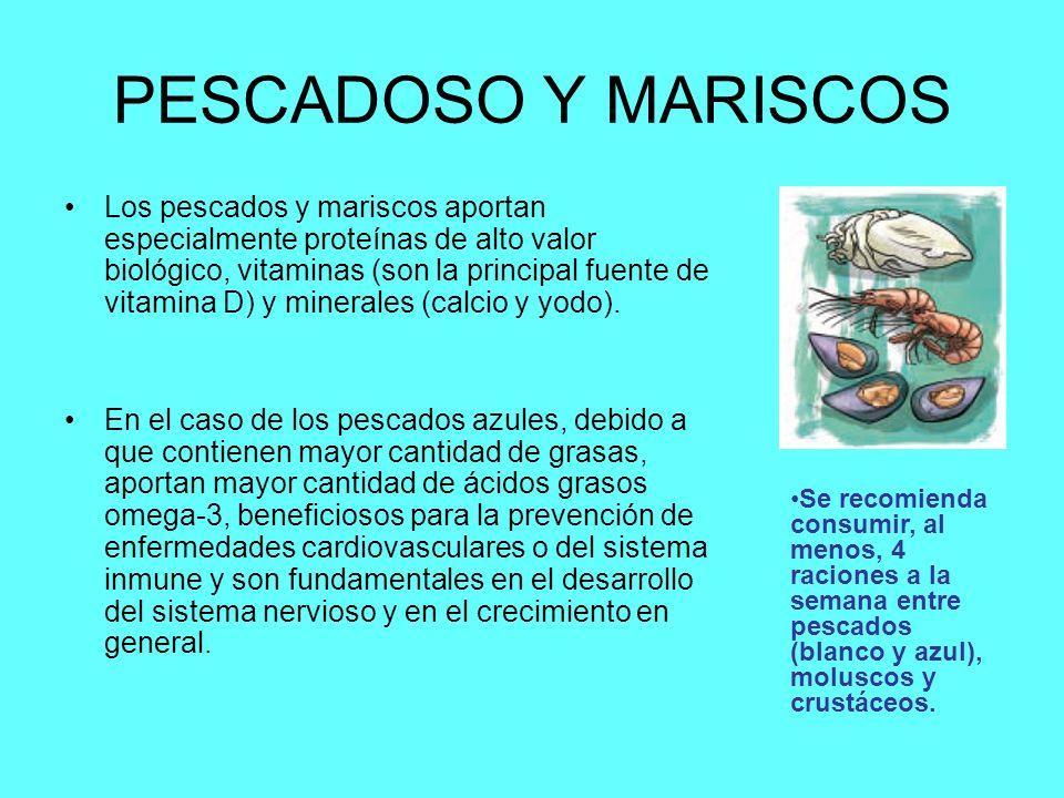 PESCADOSO Y MARISCOS