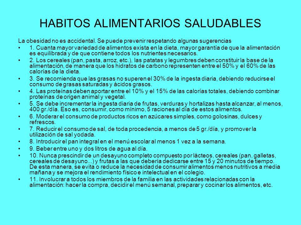 HABITOS ALIMENTARIOS SALUDABLES