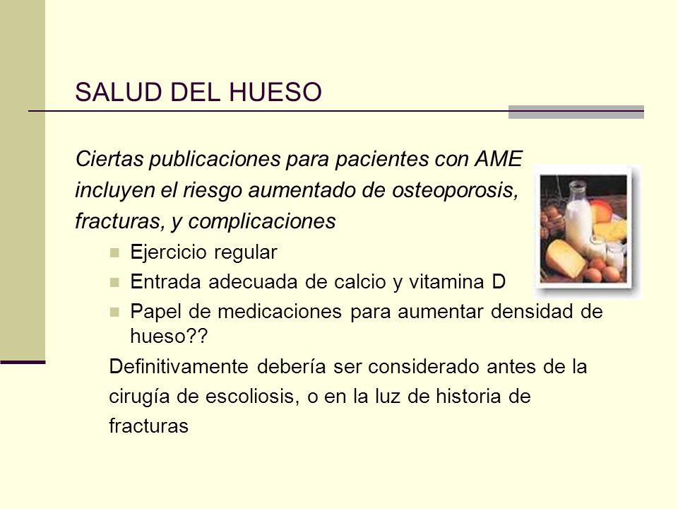 SALUD DEL HUESO Ciertas publicaciones para pacientes con AME