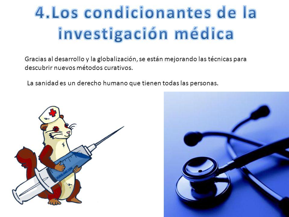 4.Los condicionantes de la investigación médica