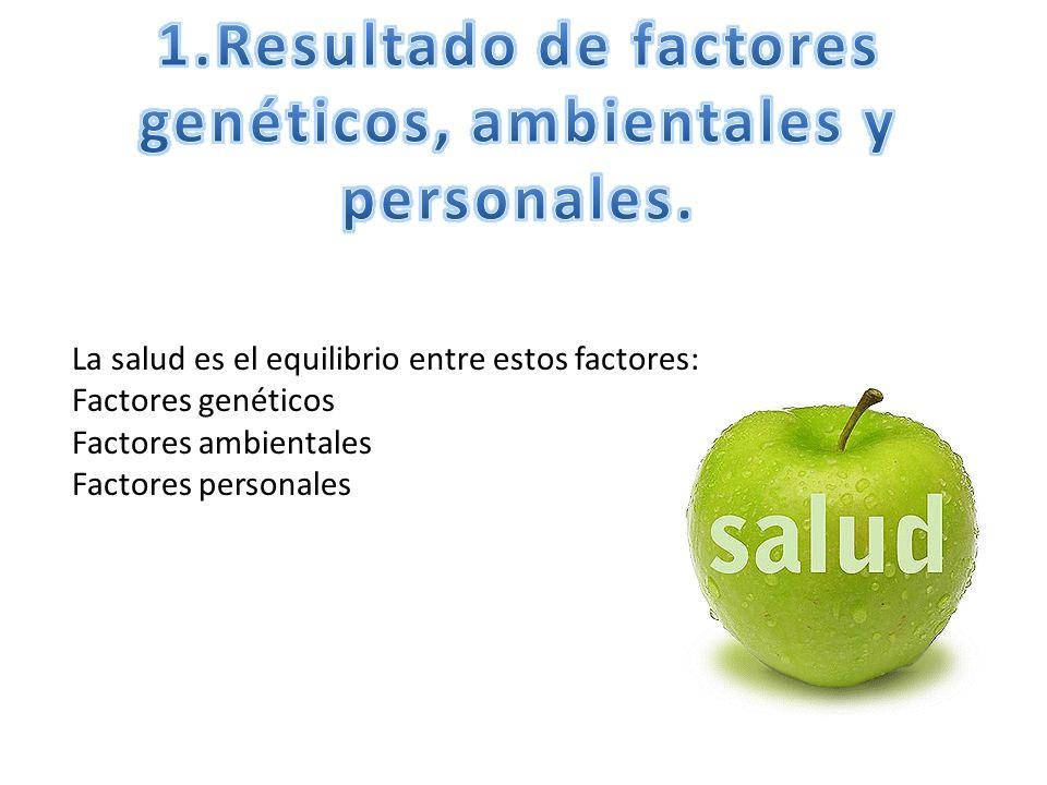 1.Resultado de factores genéticos, ambientales y personales.