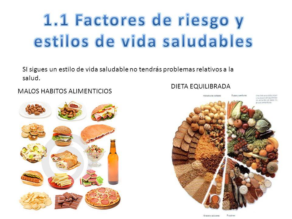 1.1 Factores de riesgo y estilos de vida saludables