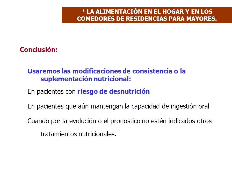 En pacientes con riesgo de desnutrición