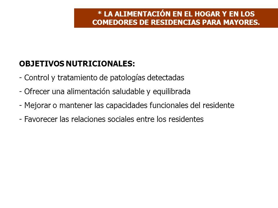 OBJETIVOS NUTRICIONALES: