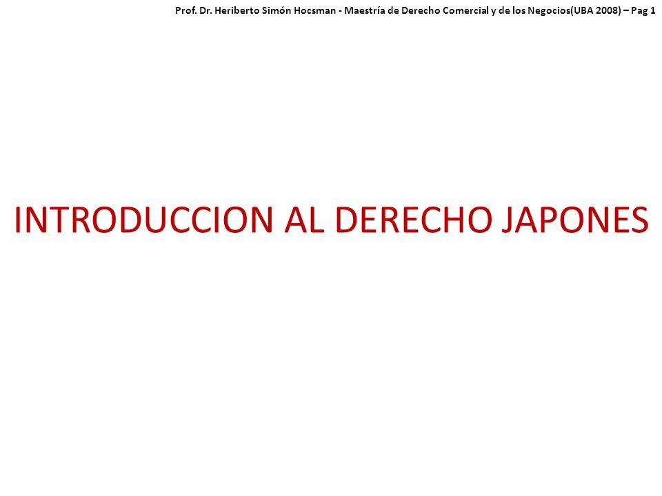 INTRODUCCION AL DERECHO JAPONES