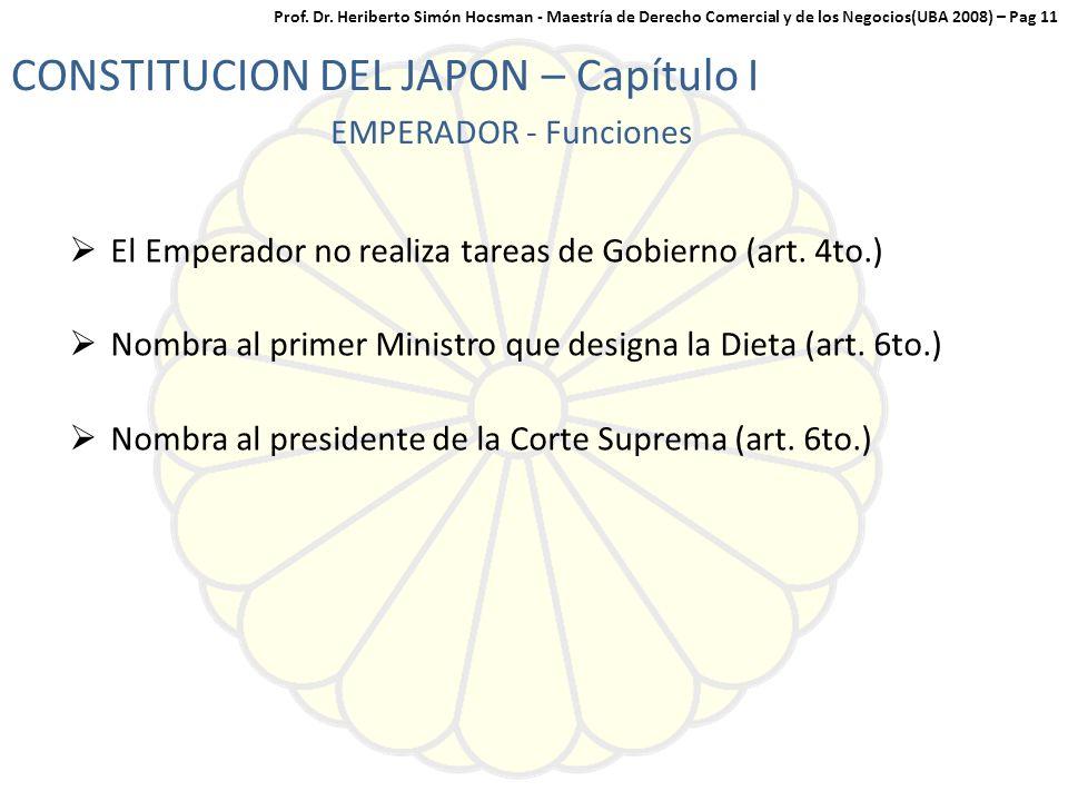 CONSTITUCION DEL JAPON – Capítulo I