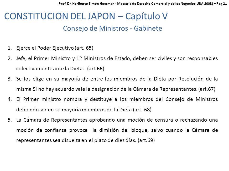 Consejo de Ministros - Gabinete