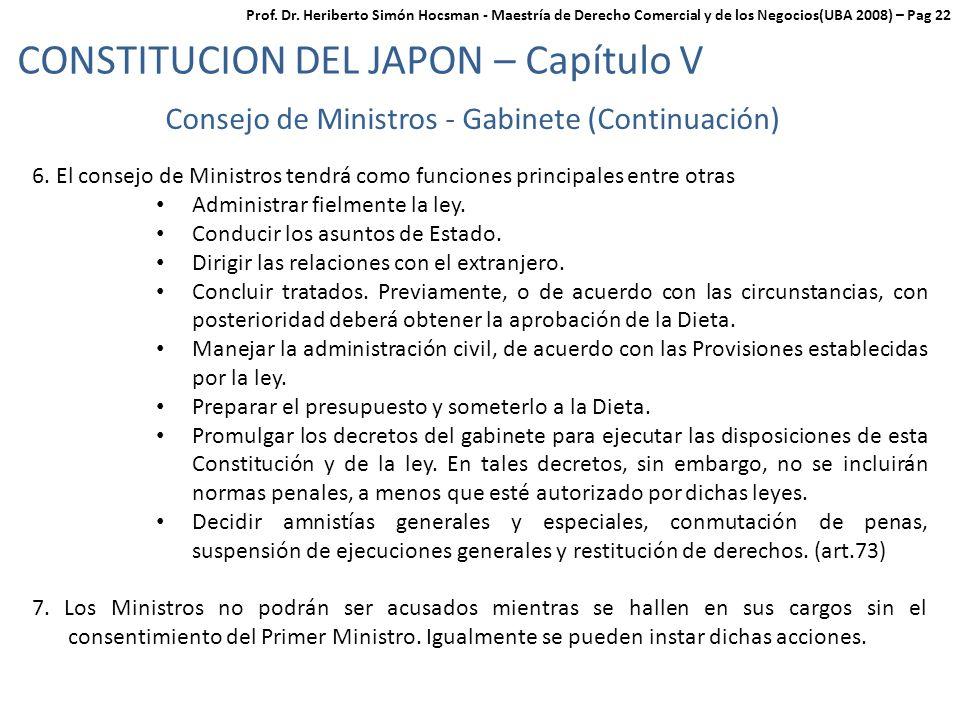 Consejo de Ministros - Gabinete (Continuación)