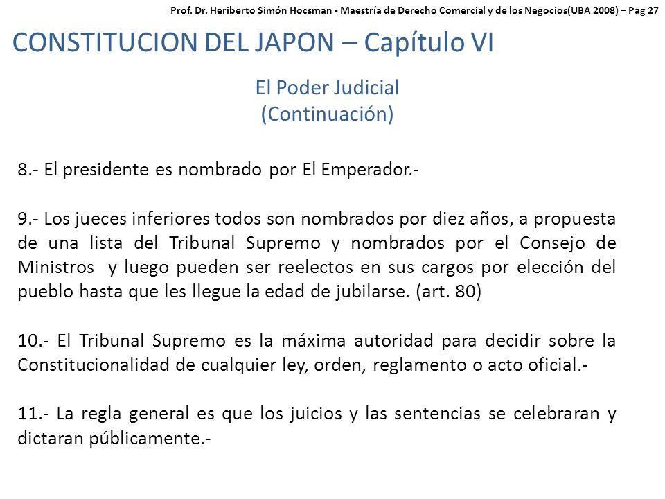CONSTITUCION DEL JAPON – Capítulo VI