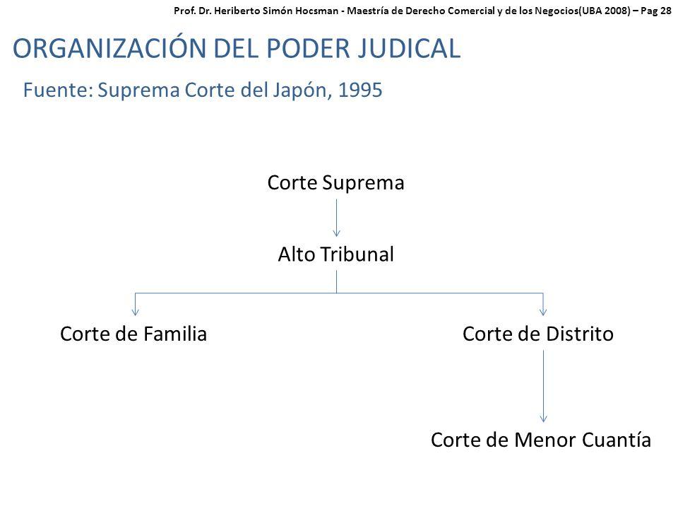 ORGANIZACIÓN DEL PODER JUDICAL
