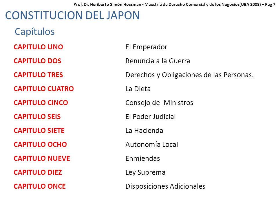 CONSTITUCION DEL JAPON