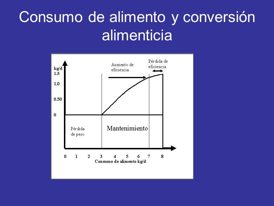 Consumo de alimento y conversión alimenticia