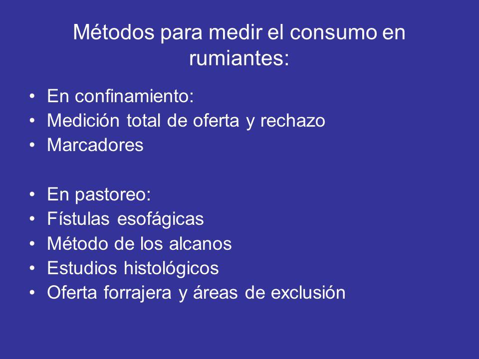 Métodos para medir el consumo en rumiantes: