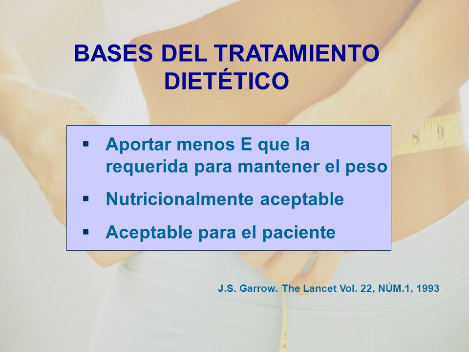 BASES DEL TRATAMIENTO DIETÉTICO