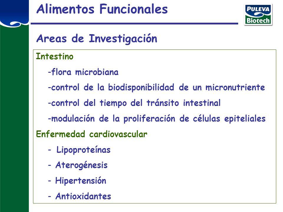 Alimentos Funcionales Areas de Investigación