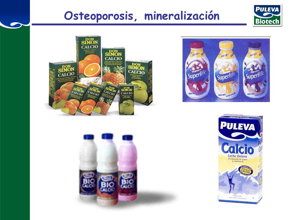 Osteoporosis, mineralización