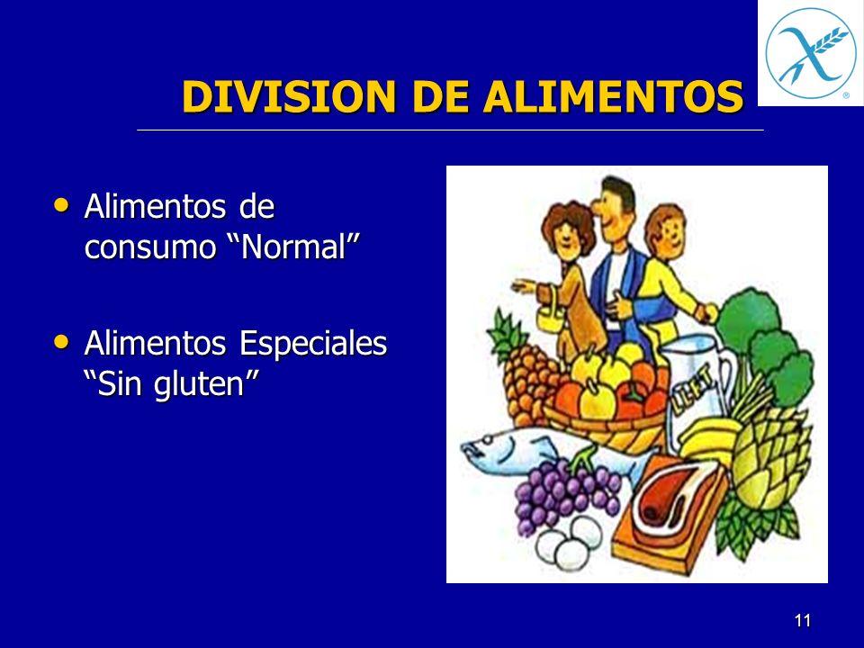 DIVISION DE ALIMENTOS Alimentos de consumo Normal