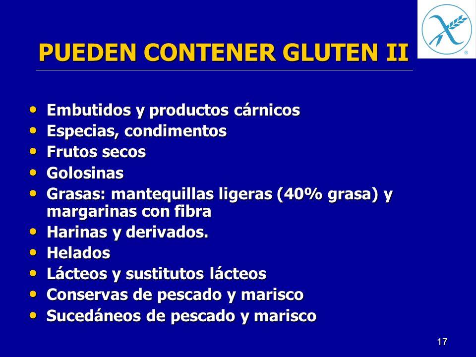 PUEDEN CONTENER GLUTEN II