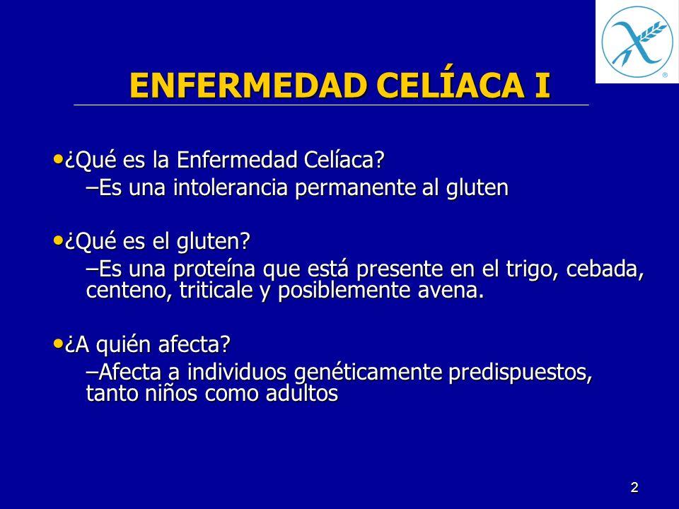 ENFERMEDAD CELÍACA I ¿Qué es la Enfermedad Celíaca