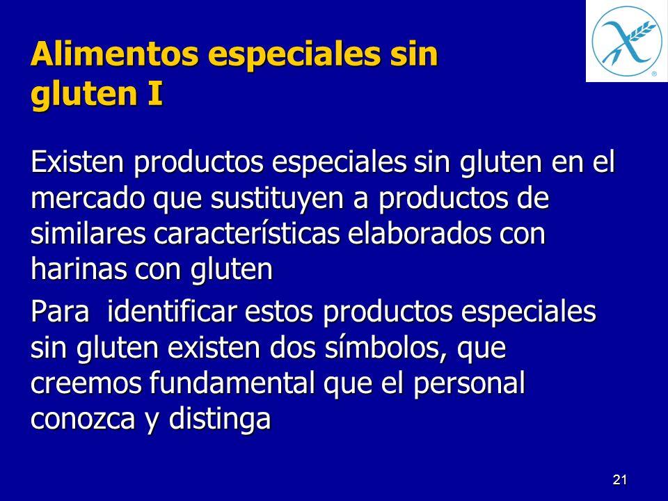 Alimentos especiales sin gluten I