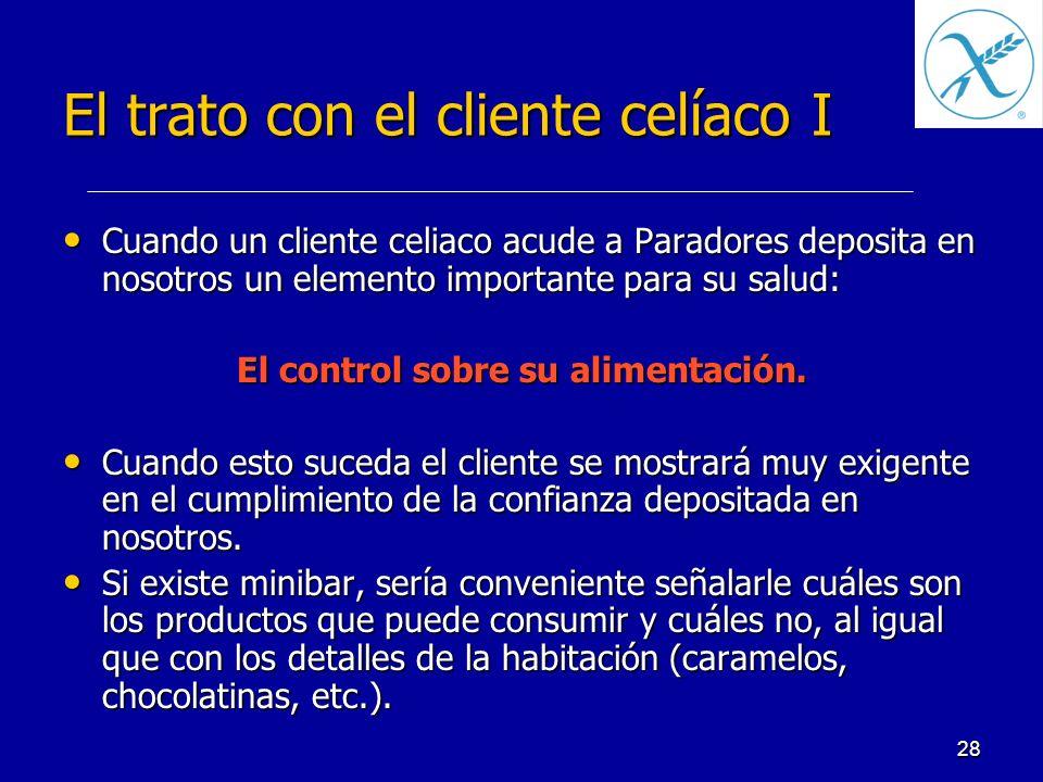 El trato con el cliente celíaco I