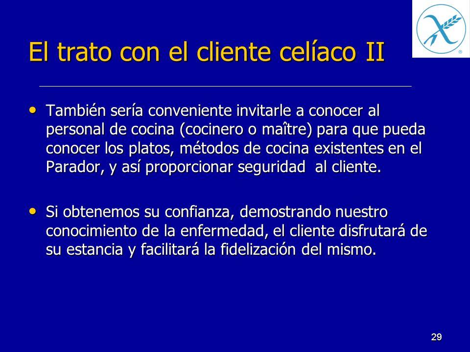 El trato con el cliente celíaco II