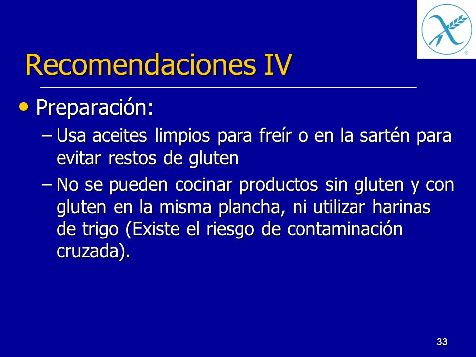 Recomendaciones IV Preparación:
