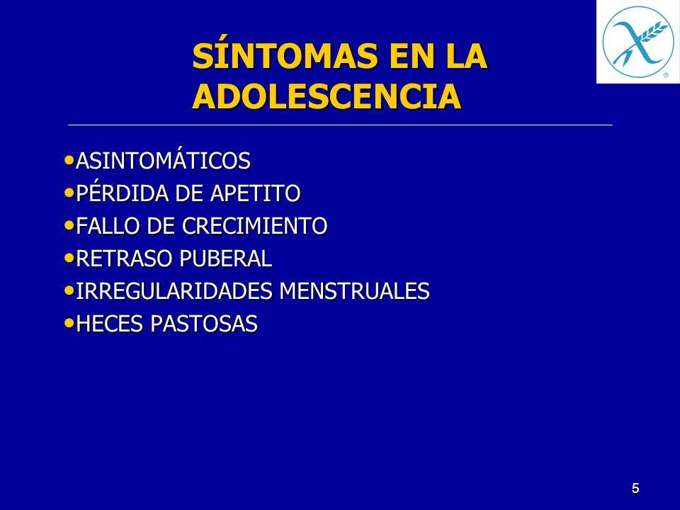 SÍNTOMAS EN LA ADOLESCENCIA