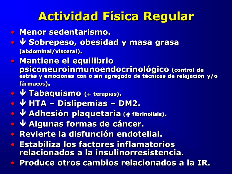 Actividad Física Regular