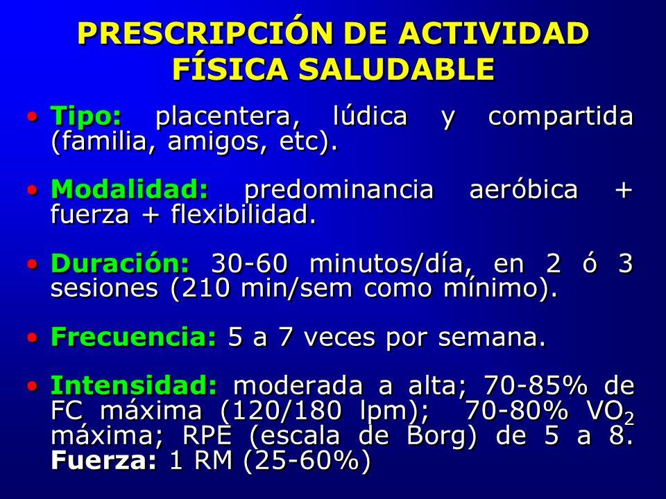 PRESCRIPCIÓN DE ACTIVIDAD FÍSICA SALUDABLE