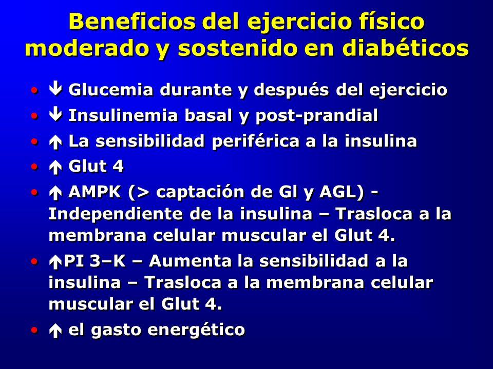 Beneficios del ejercicio físico moderado y sostenido en diabéticos