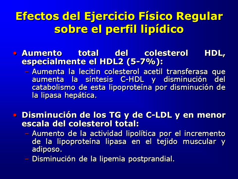 Efectos del Ejercicio Físico Regular sobre el perfil lipídico