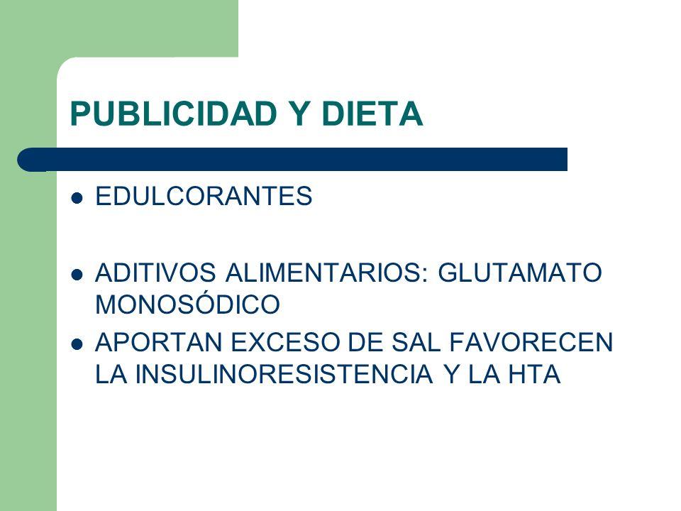 PUBLICIDAD Y DIETA EDULCORANTES