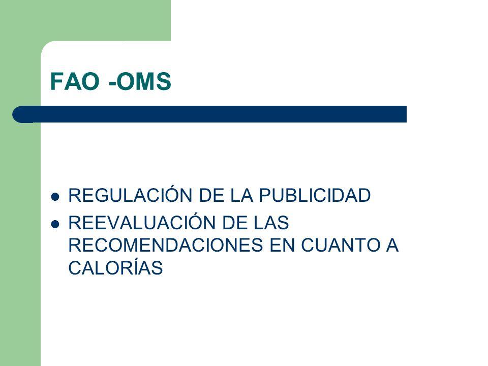 FAO -OMS REGULACIÓN DE LA PUBLICIDAD