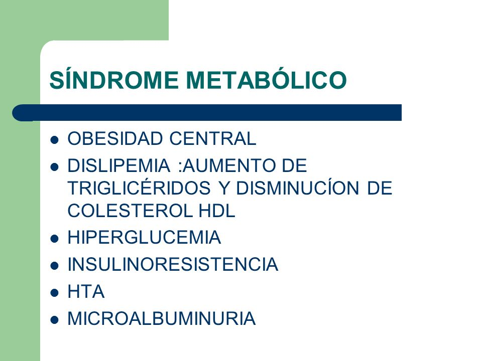 SÍNDROME METABÓLICO OBESIDAD CENTRAL