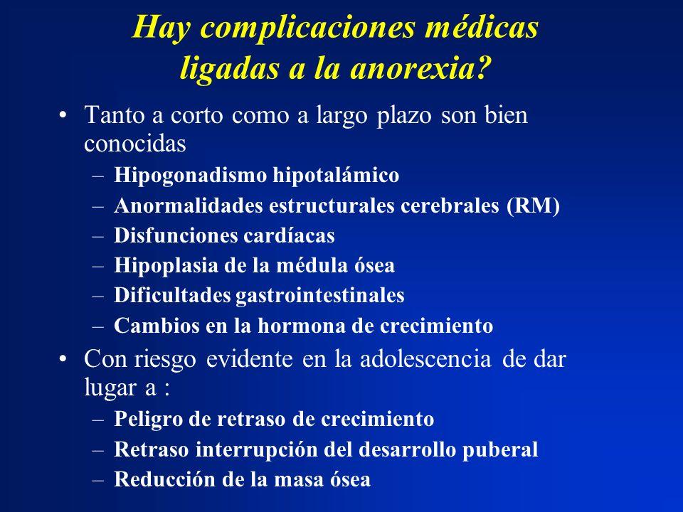 Hay complicaciones médicas ligadas a la anorexia