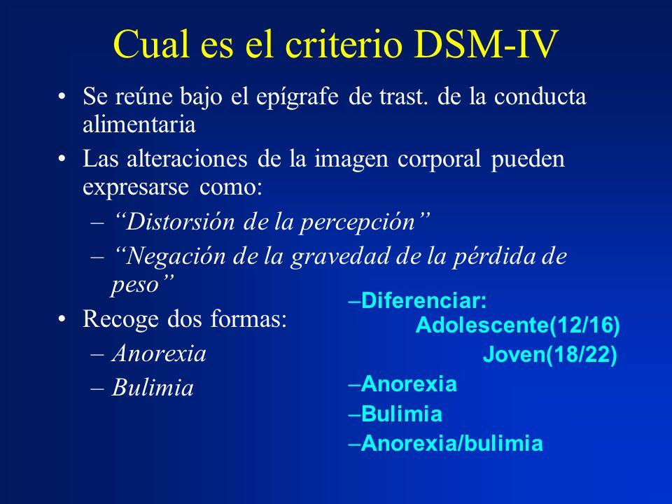 Cual es el criterio DSM-IV