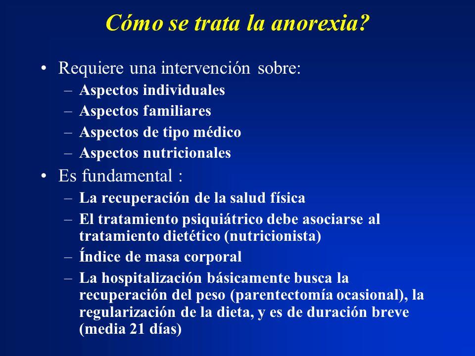 Cómo se trata la anorexia