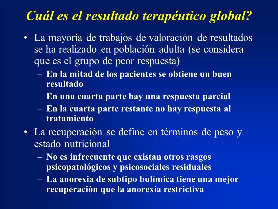 Cuál es el resultado terapéutico global