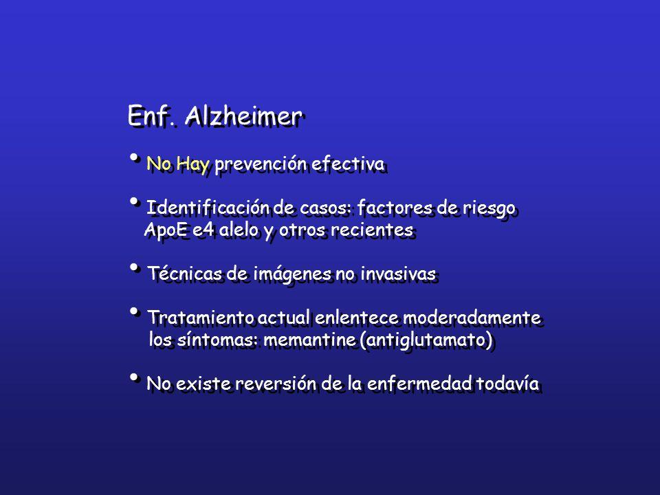 Enf. Alzheimer No Hay prevención efectiva