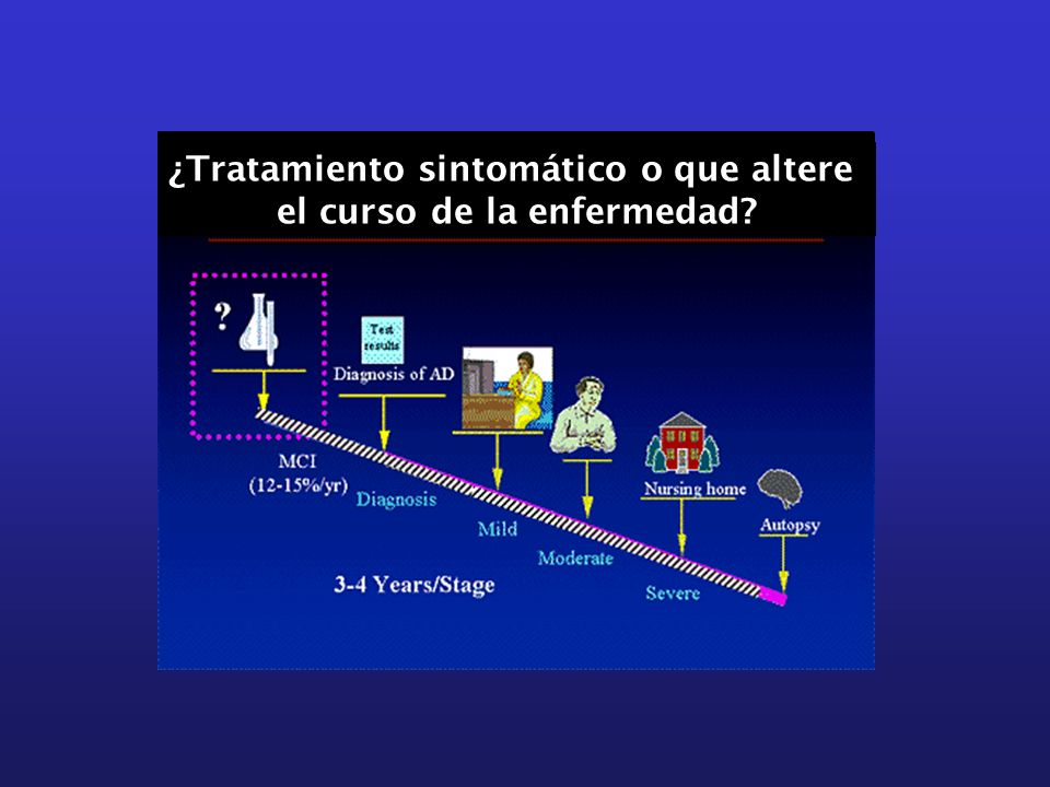 ¿Tratamiento sintomático o que altere el curso de la enfermedad