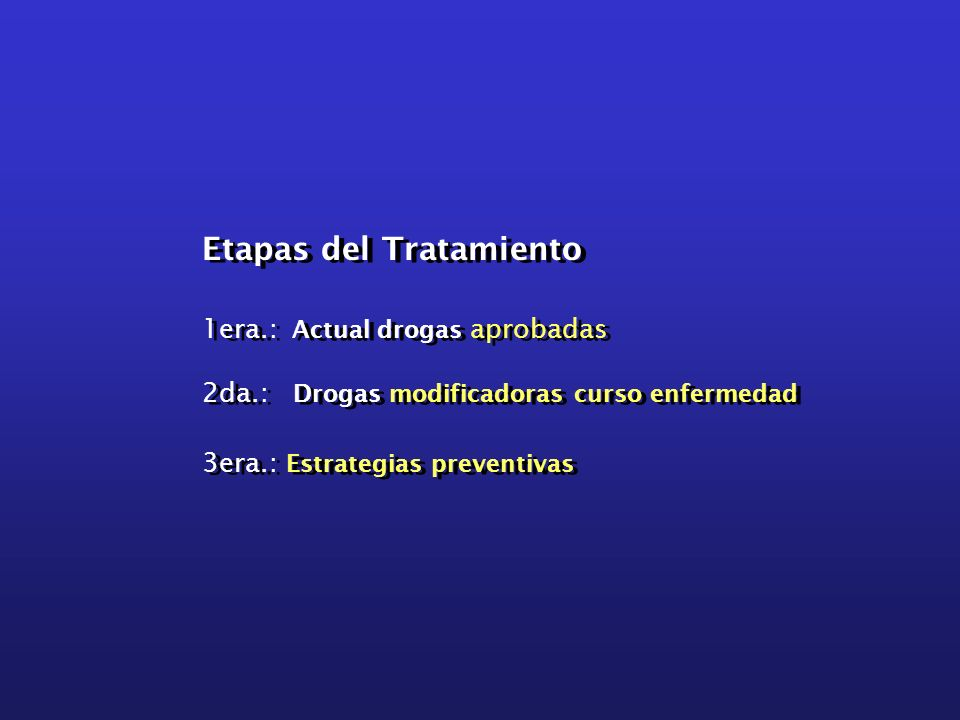 Etapas del Tratamiento