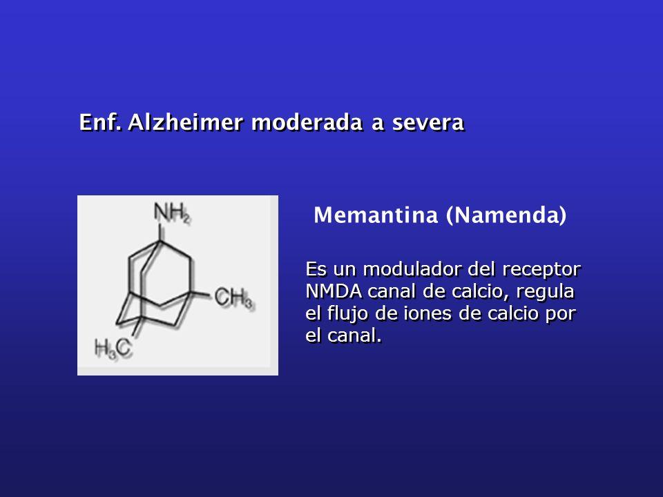 Enf. Alzheimer moderada a severa