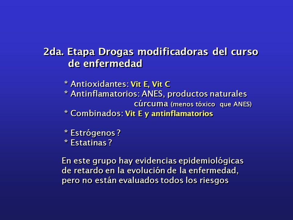 2da. Etapa Drogas modificadoras del curso de enfermedad