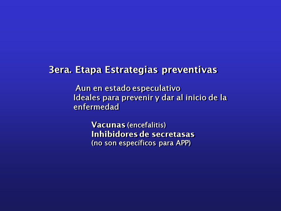 3era. Etapa Estrategias preventivas