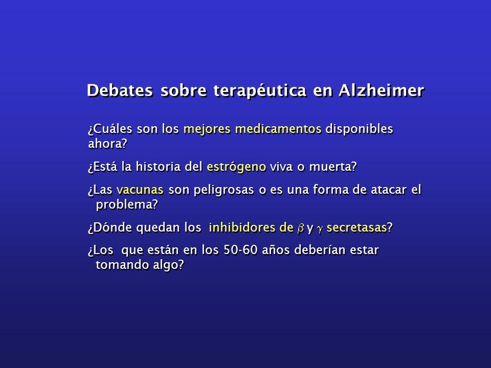 Debates sobre terapéutica en Alzheimer