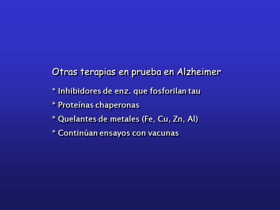 Otras terapias en prueba en Alzheimer