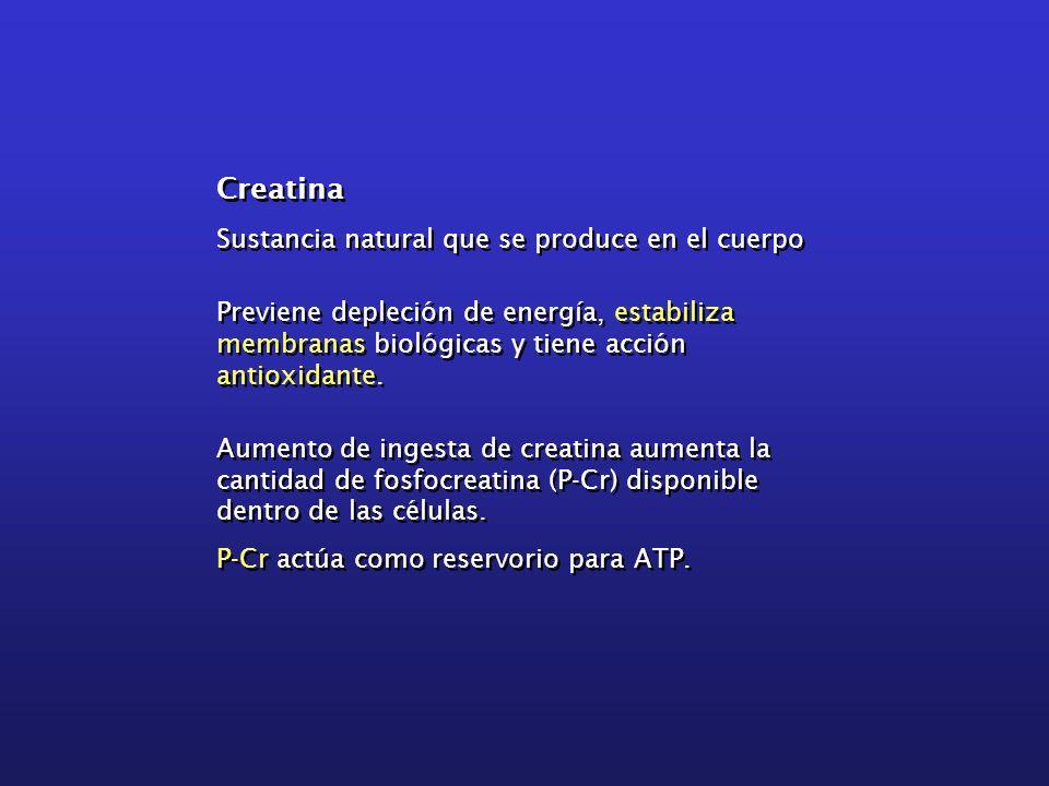 Creatina Sustancia natural que se produce en el cuerpo