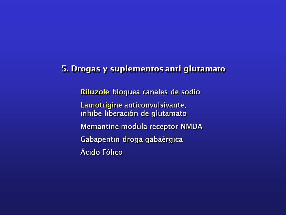 5. Drogas y suplementos anti-glutamato