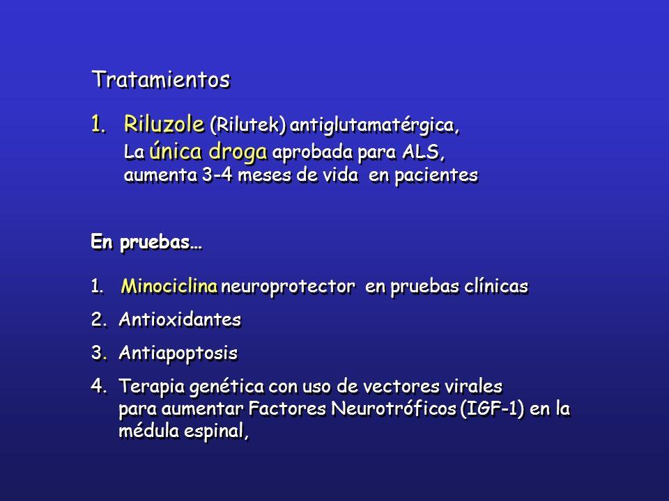 Riluzole (Rilutek) antiglutamatérgica,